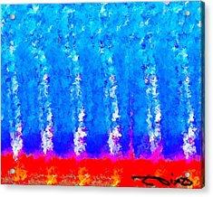 Trees Blue Acrylic Print
