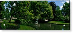 Trees In A Park, Queen Astrid Park Acrylic Print