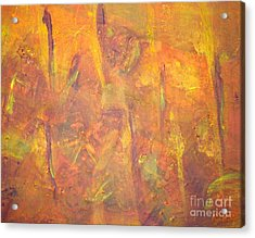 Trees Of The Field Acrylic Print by Olivia  M Dickerson