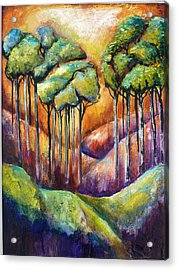 Trees Acrylic Print by P Maure Bausch