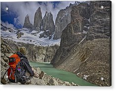 Trek To Torres Del Paine Acrylic Print