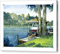 Trent River Boathouse Acrylic Print