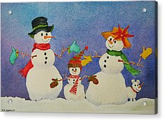Tres Chic Acrylic Print by Mary Ellen Mueller Legault