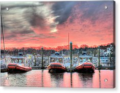 Tres Gunboats Acrylic Print by JC Findley