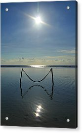 Acrylic Print featuring the photograph Tres Luces by Skip Hunt