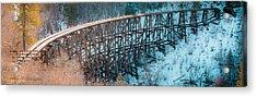 Trestle Rebuild Acrylic Print by Allen Biedrzycki