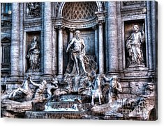 Acrylic Print featuring the photograph Trevi Fountain by Joe  Ng
