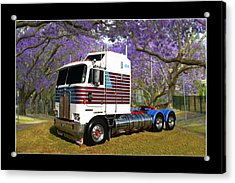Acrylic Print featuring the photograph Trev's Kenworth by Keith Hawley