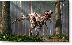 Trex In The Forest Acrylic Print