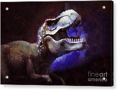 Trex Roar Acrylic Print by Pixel Chimp