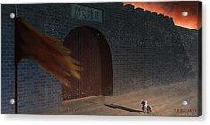 Trial Gate Acrylic Print by Hiroshi Shih