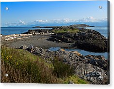 Trial Island And The Strait Of Juan De Fuca II Acrylic Print by Louise Heusinkveld