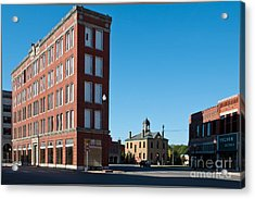 Acrylic Print featuring the photograph Triangle Building by Lawrence Burry