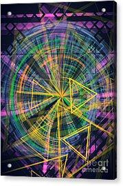 Triangles 3 Acrylic Print by Jose Benavides