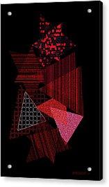 Triangles Combination Acrylic Print by Mario Perez