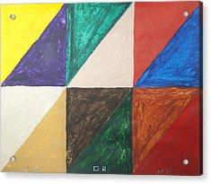 Triangles Acrylic Print by Stormm Bradshaw