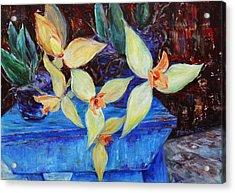 Triangular Blossom Acrylic Print by Xueling Zou