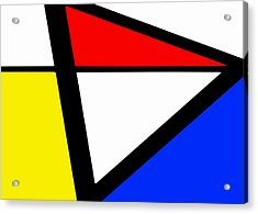 Triangularism I Acrylic Print by Richard Reeve