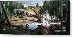 Triassic Mural 1 Acrylic Print
