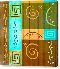 Tribal Abstract Acrylic Print