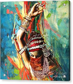 Tribal Dancer 1 Acrylic Print by Mahnoor Shah