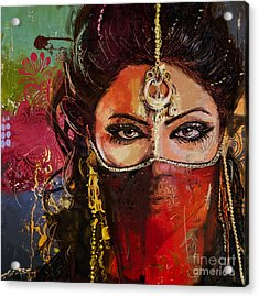 Tribal Dancer 2 Acrylic Print by Mahnoor Shah