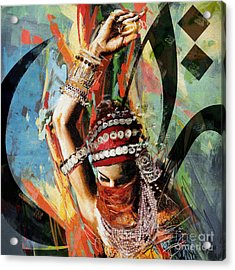 Tribal Dancer 4 Acrylic Print by Mahnoor Shah