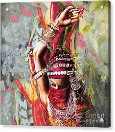 Tribal Dancer 5 Acrylic Print by Mahnoor Shah