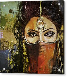 Tribal Dancer 6 Acrylic Print by Mahnoor Shah
