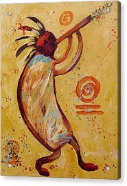 Tribal Ethnic My Red Kokopelli Acrylic Print