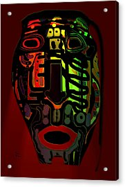 Tribal Mask Acrylic Print by Natalie Holland