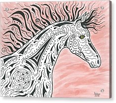 Tribal Spirit Wind Acrylic Print by Susie WEBER