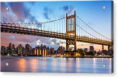 Triboro Bridge At Dusk Acrylic Print