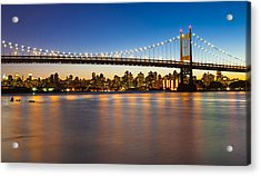 Triborough From Queens Acrylic Print by Chris Halford