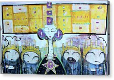 Tribunal Of Gods And Men The Vote Against You Cast Out Of This Realm Acrylic Print by Mark M  Mellon