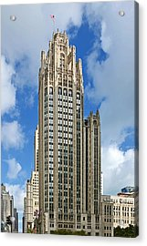 Tribune Tower - Beautiful Chicago Architecture Acrylic Print by Christine Till