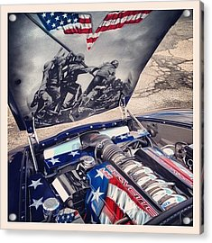 Tribute #corvette To All Veterans #usa Acrylic Print