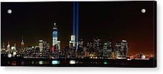 Tribute In Light From Bayonne Acrylic Print by Nick Zelinsky