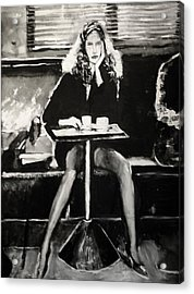 Tribute To Helmut Newton Acrylic Print