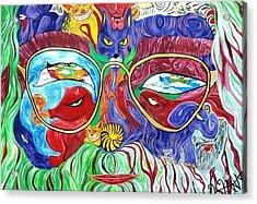 Tribute To Jerry Garcia Acrylic Print by  Artist Alfredo Dane Llana