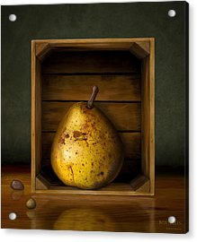 Tribute To Magritte Acrylic Print by Bob Nolin