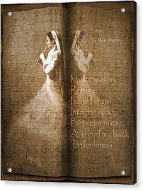Tribute To Maya Angelou And Authors Acrylic Print by Georgiana Romanovna