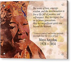 Tribute To Maya Angelou Acrylic Print