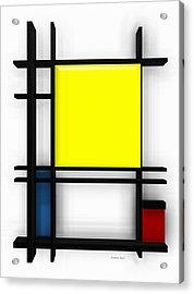 tribute to Mondrian 1 Acrylic Print