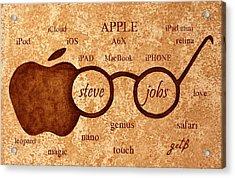 Tribute To Steve Jobs 2 Digital Art Acrylic Print by Georgeta  Blanaru