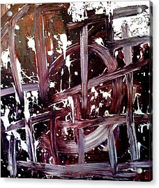 Tribute To Tapies Acrylic Print by Ernesto Akaba