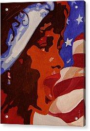 Tribute To Whitney Houston Acrylic Print by Xueling Zou