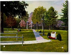 Acrylic Print featuring the painting Tribute Walkway by Rick Fitzsimons