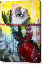 Tricia Helfer As Caprica Six Acrylic Print by Mark M  Mellon