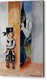 Trick-or-treat Acrylic Print by Geeta Biswas